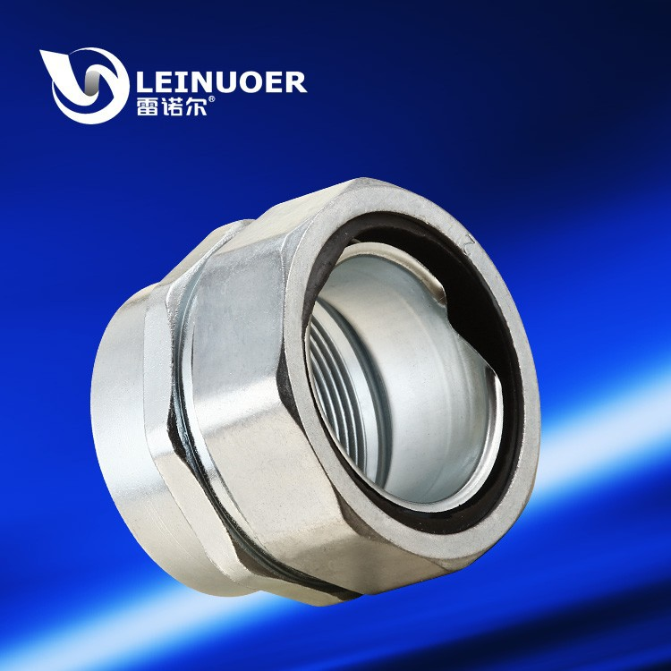 Thickened Zinc Alloy Female Electrical Connector For Flexible Conduit