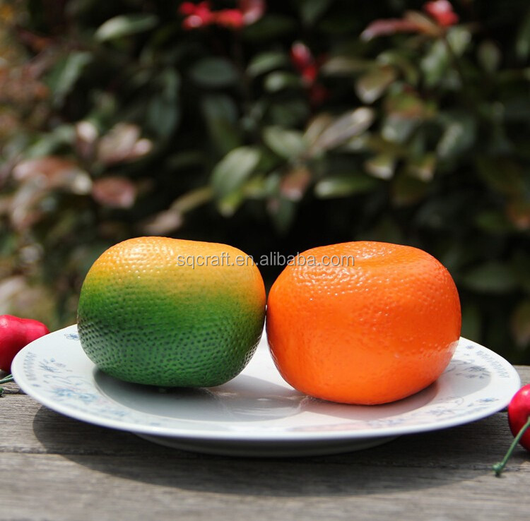 Plastic artificial fake fruit lifelike tangerine food model for decoration/Yiwu sanqi craft factory