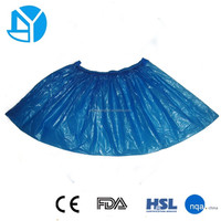 2015 NEW blue disposable plastic waterproof shoe cover in big discount