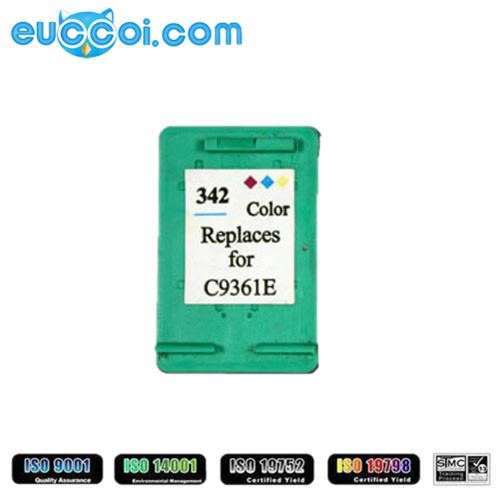 replace for HP 342 (C9361E) 3C remanufactured printhead based ink box for HP PSC 1510 Photosmart 7830 inkjet printer