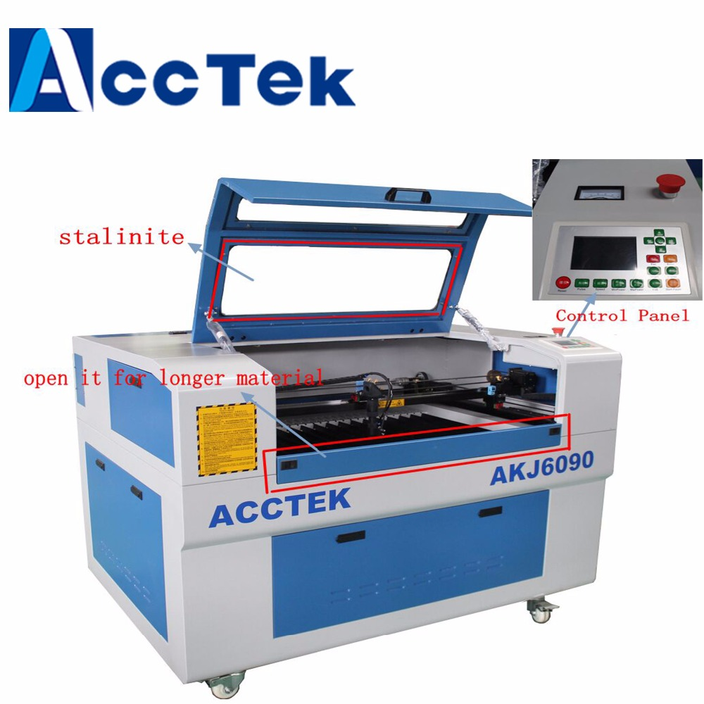 Distributor wanted keyboard laser engraving machine/Acctek 9060 6090/80W laser machine mainly for engrave