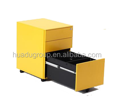 Office Three-drawered Deep-box Steel Mobile File Pedestal