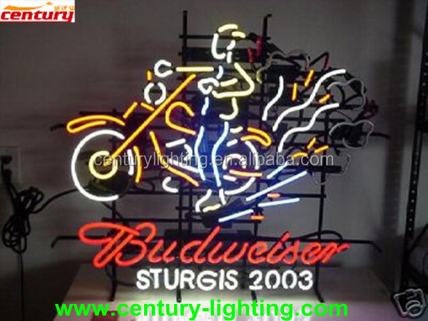 china whole sale price budweiser neon light with UL and CE