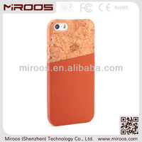 new arrival mobile accessories for i phone5 cases and covers custom, for i phone cover cork leather