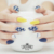 False Nail Art Tips Color Print stiletto 24pcs Artificial Tips