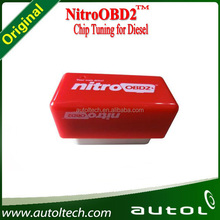 NitroOBD2 Nitro OBD2 Car Chip Tuning OBD2 Tool for Gasoline Diesel Cars 100 PCS a lot (50pcs red,50pcs yellow)