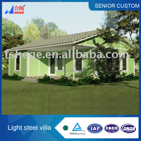 prefab villa,light steel house,sandwich panel prefab houses