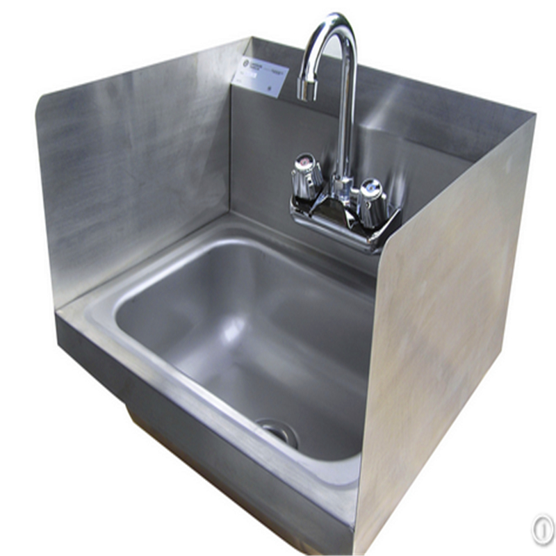 Wall Hung Hospital Used Stainless Steel Hand Washing Trough Medical Surgical Scrub Sink With Strainer