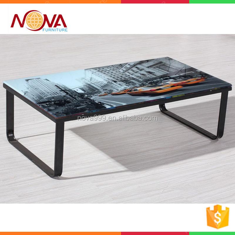 Hotsale 싼 현대 금속 유리 커피 테이블 디자인 거실 가구 커피 ...