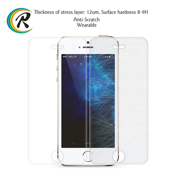 9H anti radiation tv screen protector for iPhone 5 screen film tempered glass