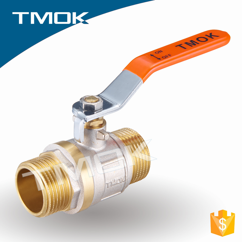 "1/4""---2"" bellows-sealed suppliers equal shape Light brass ball valve"