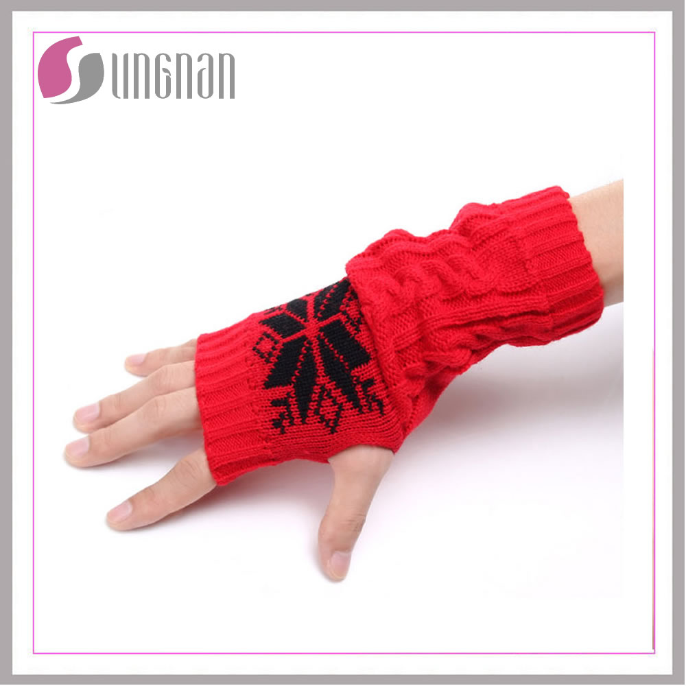 Hot new products China suppliers acrylic knit custom magic stretch gloves