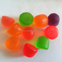 Wholesale assorted fruit juice mini drop shape sweet candy vitamin halal gummy