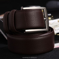 Free shipping man genuine crocodile leather belt wholesale