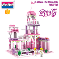 cogo girls brick kids toys educational building block for kids