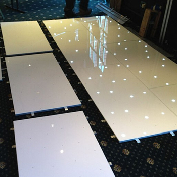 Scratch-resistant lightweight wireless remote star led dance  floor tile