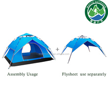 easy folding portable waterproof double layers pop up camping tent of yurt