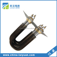 Coil finned heating elements Flange Finned Tubular Heater