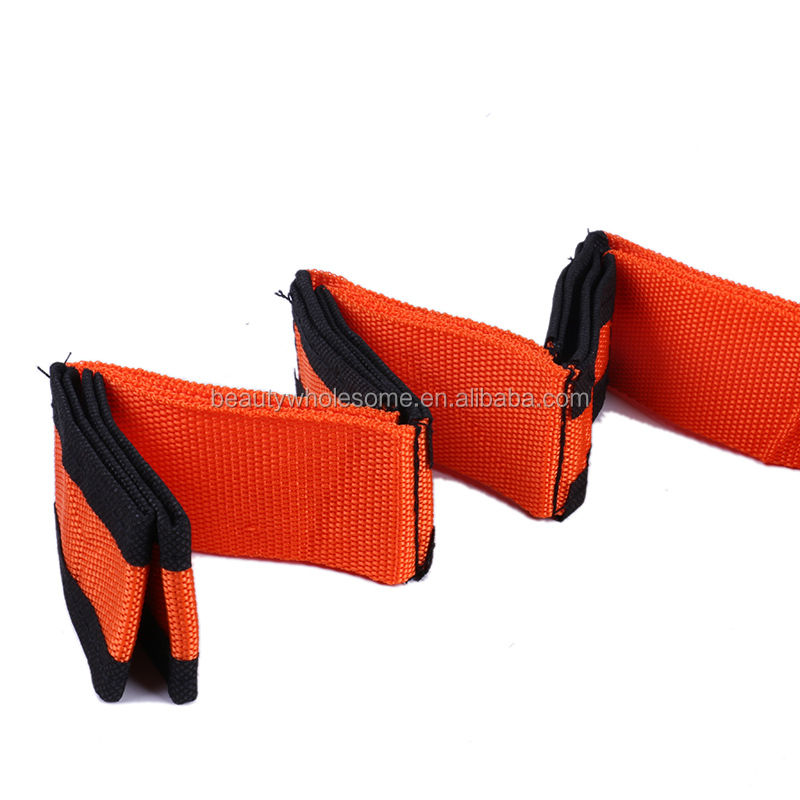 AD225 Fitness Adjustable Weight Lifting Straps Gym Training Wrap With Custom Label