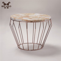 Modern cocktail metal wire furniture high bar coffee table with MDF of cheap price