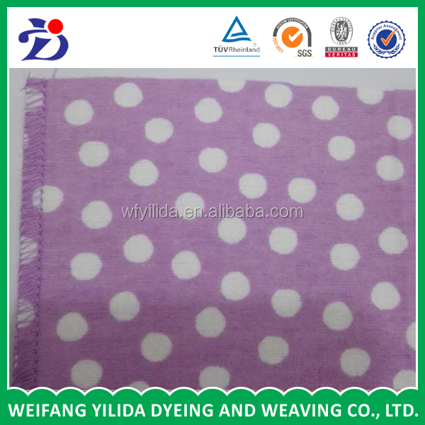 100% cotton polka dot printed fabric for Home Textile