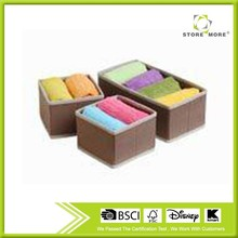 Set of 3 Foldable Drawer Dividers, Storage Boxes, Closet Organizers, Under Bed Organizer, for Clothing, Shoes, Underwear, Bra,