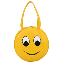 Smiling face girls bag An adorable expression of mood women's shoulder bag expresses oneself personality women handbag bags