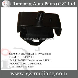Engine mounting / engine mount LH /RH for isuzu npr nkr spare parts OEM: 8972286681 / 8972286691