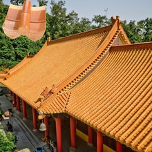 ML-001 discount red chinese style ceramic roof tiles