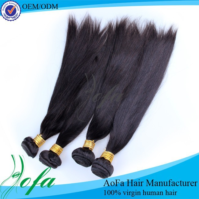 High quality virgin Peruvian human hair straight