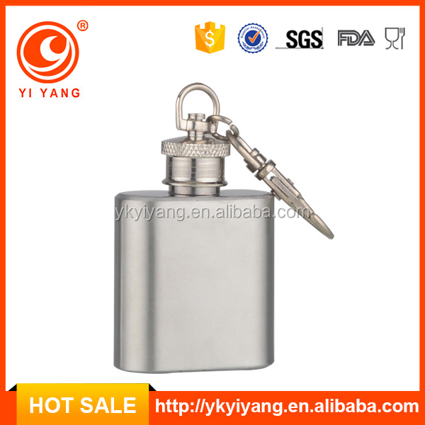China BSCI factory alcohol mini 1oz promotion hidden hip flask YY-MN01