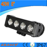 For car/motorcycles/truck/suv led light bar 8inch 40w offroad led spot light bar