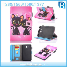 Tablet Cute Animal Stand Leather Case For Samsung Galaxy Tab T560 Wallet Case