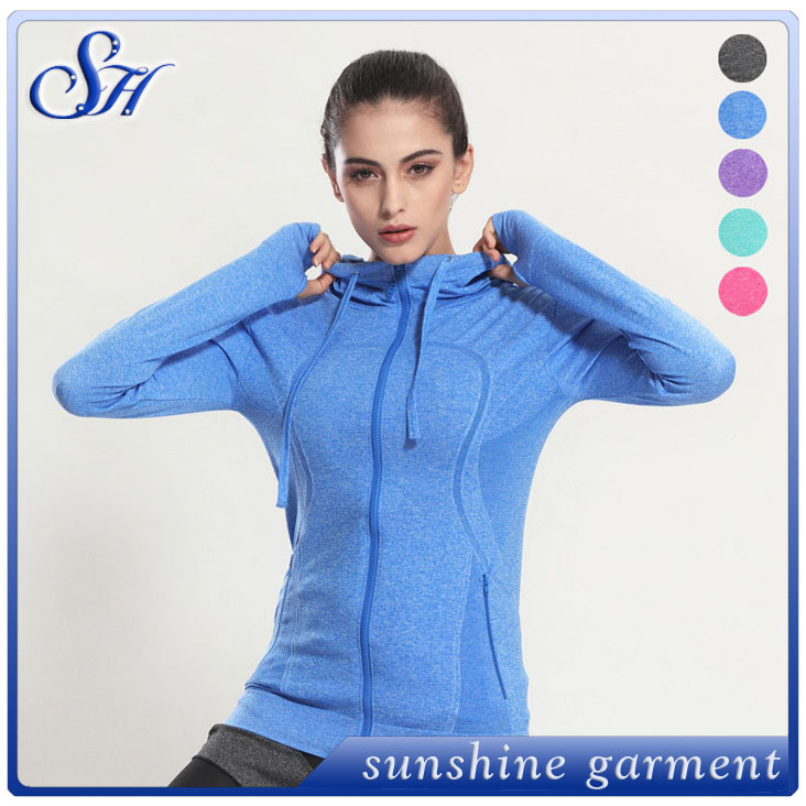 Hot Sell hoodie jacket New Fashion Women Outerwear sport coat with hat