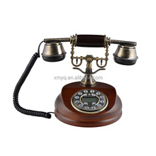 Old Fashion Antique Wood Desk Telephone Vintage Home Decor Caller Id Telephone For Gift
