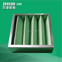 Pleated box type Primary Efficiency Air Filter for Air Handling Unit and clean room