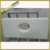 Bathroom Used White Color Quartz Stone Countertop