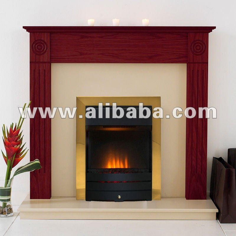 Adam Newbury Fireplace in mahogany with Brass Salisbury electric Fire