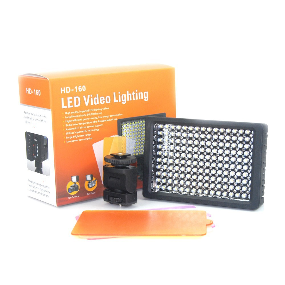 Best-selling led light HD-160 LED Video Light for Camera DV Camcorder