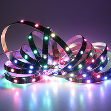 30 LED/M 5050 SMD White PCB WS2813 4 pins Individually Addressable Digital RGB LED Light Strip