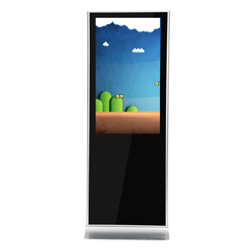 55 Inch High Brightness Floor Stand LCD Digital Signage PC