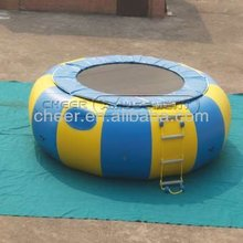 Cheer Amusement inflatable airtight water play equipment floating trampoline