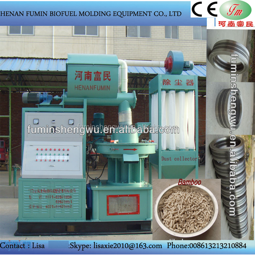 CE approved pelleting machine to make wood pellets