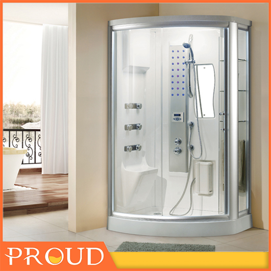 Tempered Glass Steam Shower Cabinet Sanitary Wares Massage Showers