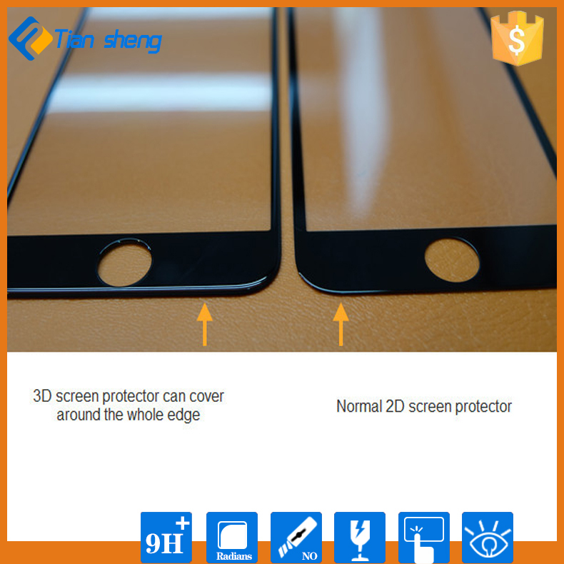 9H Tempered Front Glass 3D Curved Screen Protector For iPhone 6 6S 6Plus