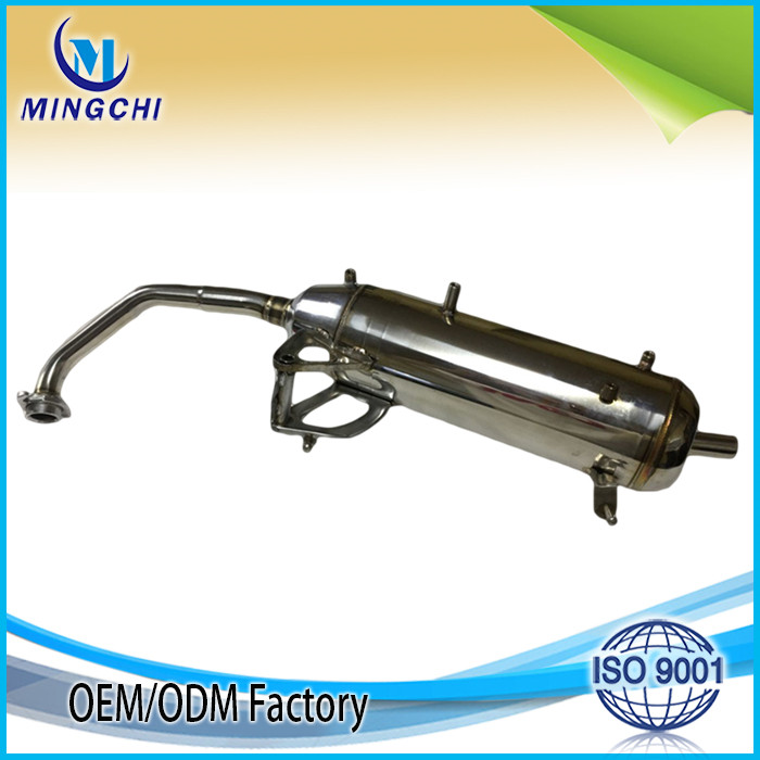 Stainless muffler in exhaust pipe motorcycle exhaust muffler pipe