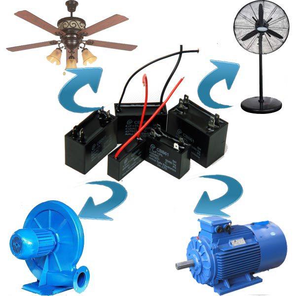 Ceiling fan wiring diagram capacitor buy 3 speed ceiling for Capacitor for fan motor