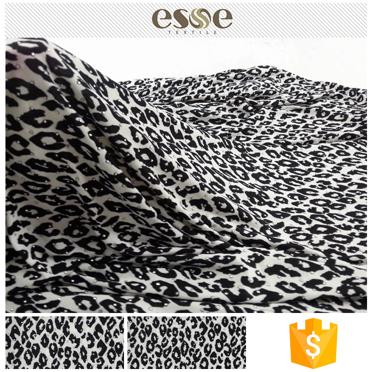 Hot selling custom manufacturer cow print fabric