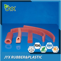 Custom extruded adhesive silicone sponge strip