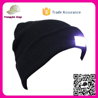 Trade Assurance 15 color in stock Beanie Hat with led lights knit baggy beanie hat winter warm oversized